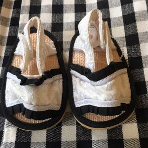 Other - Baby Sandals Eyelet Lace Size 0-6 mo Black & White